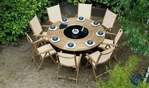 Table De Jardin Ronde En Bois : table de jardin bois ronde mc immo ~ Dailycaller-alerts.com Idées de Décoration