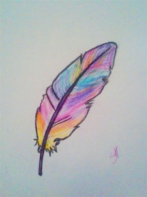 colorful things to draw draw a feather drawings drawings drawings