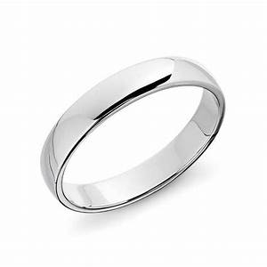 Blue Nile Classic Wedding Ring In Platinum Rank Style