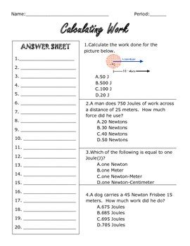 how does worksheet calculate work calculating work worksheet by jennifer anguiano tpt