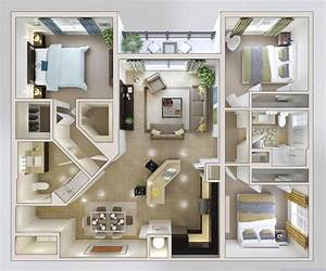 Home Design 79 Excellent Small 3 Bedroom House Planss for ...