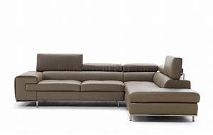 magnolia 7634 sectional sofa in genuine italian leather by idp With genuine italian leather sectional sofa