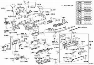 Lexus Es 350 Air Bag Assembly  Instrument Panel  Lower No