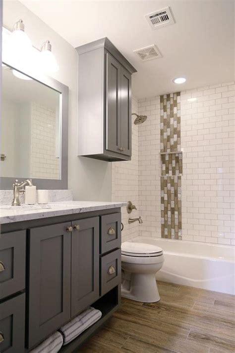 beautiful bathrooms  subway tiles  cabinet