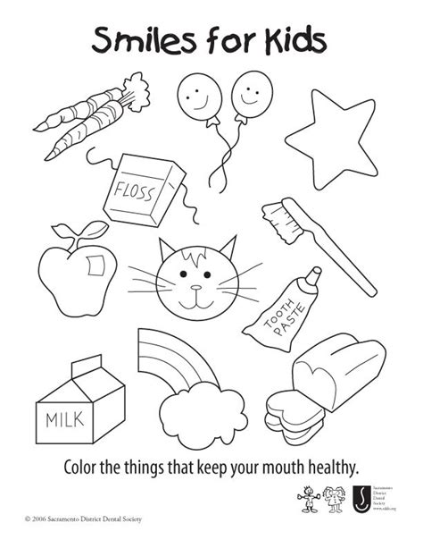 smiles  kids coloring sheet color