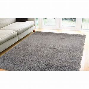 tapis shaggy pas cher gris domino 2222 cm120x170 achat With grand tapis gris pas cher