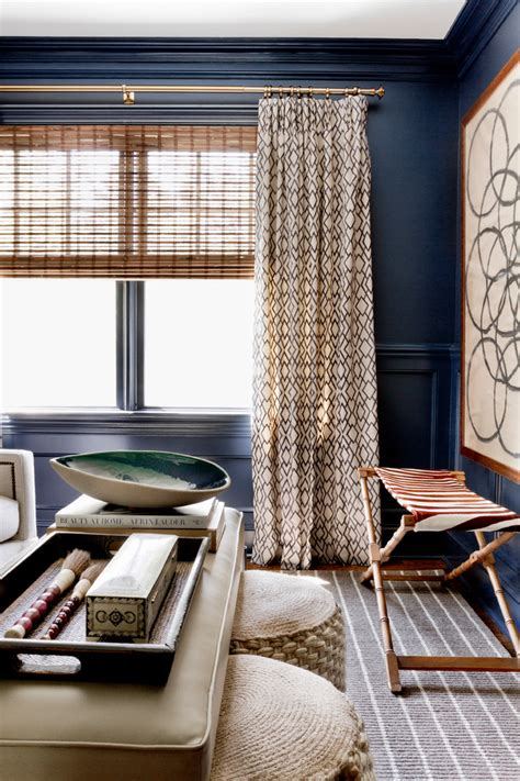 navy blue curtains dining room contemporary  high