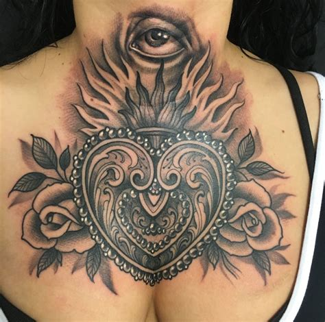 The Sacred Heart Tattoos And History  Tattoo Life
