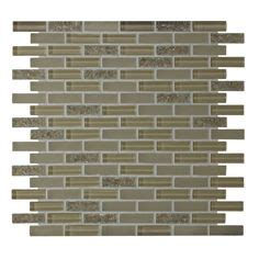 allen roth glass mosaic shimmering lights mosaic wall tile