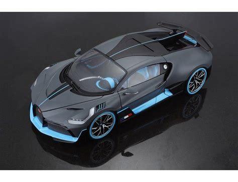 Bugatti divo matt gray with blue accents 1/18 diecast model car by bburago 11045 brand: Bugatti Divo 1:18 Bburago - KIT CAR 43