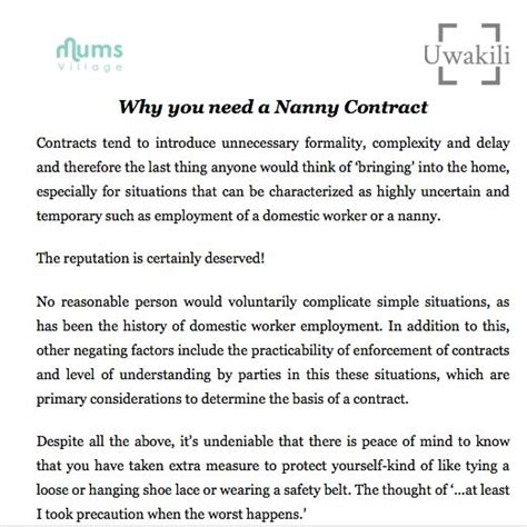 best 25 nanny contract ideas on daycare forms