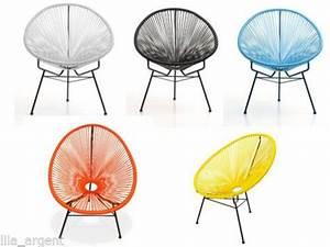 Fauteuil Fil Plastique : 17 meilleures id es propos de chaise acapulco sur ~ Edinachiropracticcenter.com Idées de Décoration
