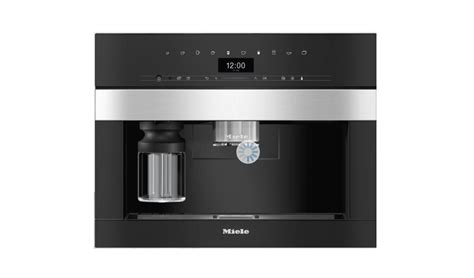 Perfectly combinable design with coffeeselect + autodescale for highest demands. Miele CVA7440 Built In Coffee Machine - Clean Steel ...