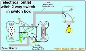 2 Way Switch With Electrical Outlet Wiring Diagram How To Wire Outlet With Light Swit