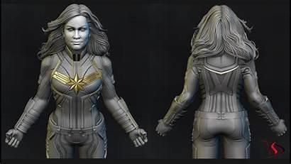 Marvel Zbrush Captain