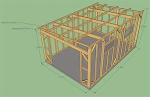 Plan Cabane En Bois Pdf : avis sur plan ossature abris de jardin 20m 20 messages ~ Melissatoandfro.com Idées de Décoration