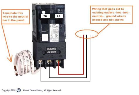 Gfi Breaker Diagram by After Installed A Gfci Circuit Breaker And The Receptacle