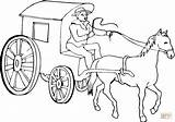 Coloring Stagecoach Horse Pages Cowboy Colouring Western Drawing Cab Chariot Print Drives Printable Philip Colour Stage Horses Coach Template Sketch sketch template