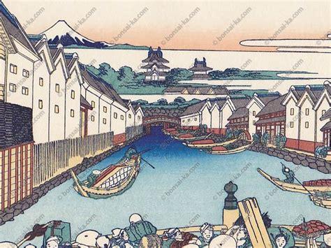 36 vues du mont fuji este japonaise hokusai 36 vues du mont fuji nihon bashi bonsai ka
