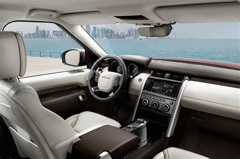 land rover interior 2017 2017 land rover discovery first look review