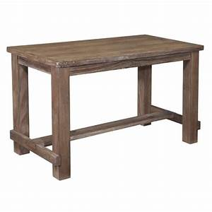 Ashley pinnadel rectangular counter height dining table in for Dining room tables counter height