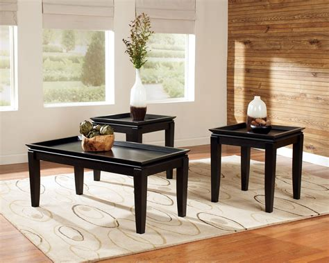 Our locally owned and operated stores are passionate about being the best and most affordable furniture store for your home. Ashley Furniture Delormy Black 3pc Coffee Table Set | The ...