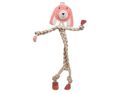 hugglehounds durable  natural rope bunny dog toy large