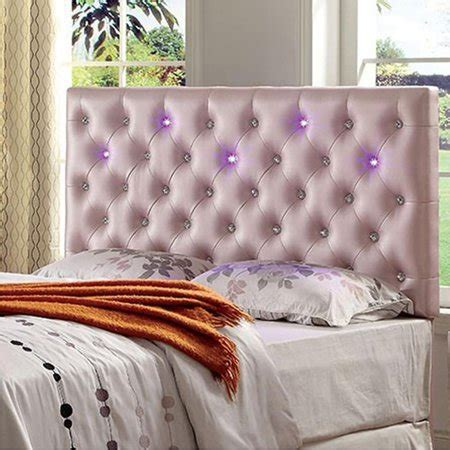 Led Light Headboard by Upholstered King Bed Headboard With Led Lighting Pink