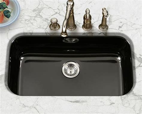 black porcelain kitchen sink houzer porcelain enameled steel kitchen sinks 4738