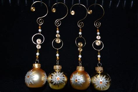 glass bulb and wire christmas tree ornaments by
