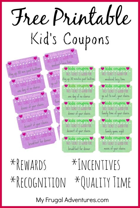 childrens gift idea  printable reward  kids behaviorparenting kids rewards