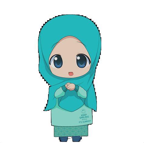 gambar anime imut kartun chibi muslimah el dan lucu kartun muslimah