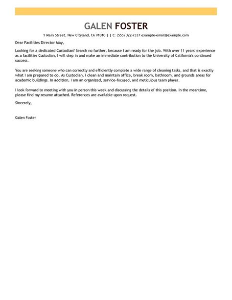 Maintenance Cover Letter Exles by Leading Maintenance Janitorial Cover Letter Exles