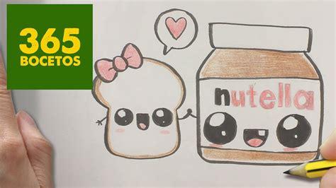 como dibujar nutella y pan kawaii paso a paso dibujos kawaii faciles how to draw a nutella
