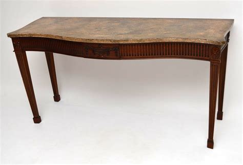 antique mahogany console table large antique georgian style mahogany console table 4112