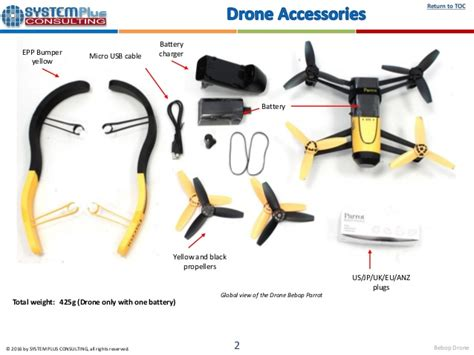 parrot bebop drone  teardown reverse costing report published