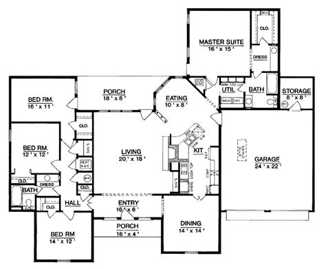 house plans one level superb single level home plans 6 one level house plan