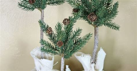 DIY Pine Cone Topiary Tree {CCC   The ribbon, Nap times