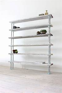 francisco reclaimed wood and steel pipe shelving by urban ...