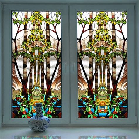 Decorative Window Stained Glass - popular stained glass stickers buy cheap stained glass