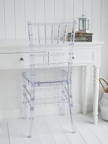 clear dressing table chair   white lighthouse bedroom furniture