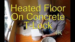 Radiant Heated Floor On Concrete Schluter