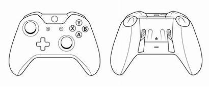 Xbox Controller 360 Drawing Sketch Scuf Pages