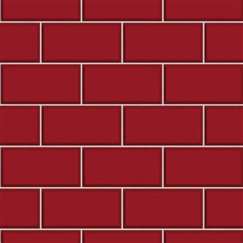 Black White Damask Wallpaper Subway Tile Red Wallsorts