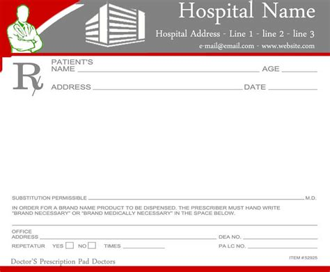 pad template prescription pads template for doctors ninareads