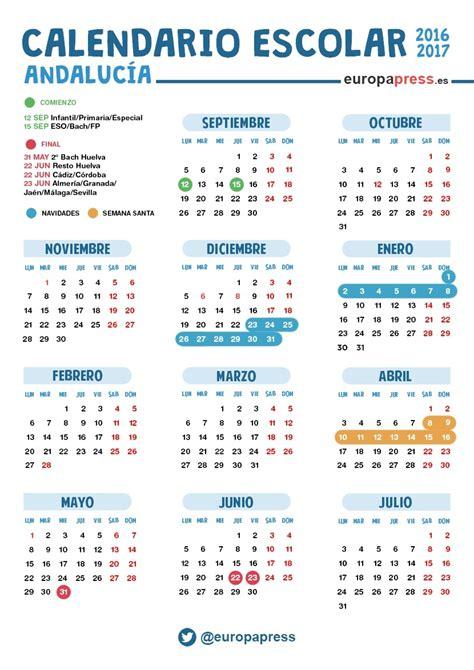 calendario escolar de andalucia  navidad semana