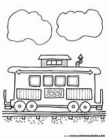 Caboose Clipart Train Coloring Sheets Line Clipartion Colormountain Give sketch template