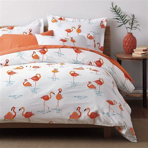 flamingo percale duvet cover the company store