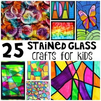 beautiful stained glass crafts  kids page