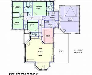 exemple plan maison en l With exemple des plans de maison
